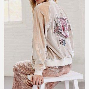 Silence & Noise Velour Mermaid Embroidered Jacket